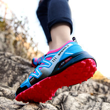 Women Breathable Hiking shoes Outdoor Training Sports Shoes Men Hiking Running Fitness Shoes Couples Bicycle MTB Cycling Shoes
