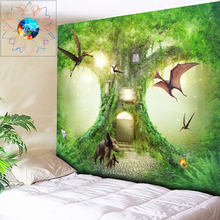Natural Forest Tapestry Wall Hanging Psychedelic Tree Hippie Wall Tapestry Bohemian Wall Tapestries Mandala Wall Art Boho Decor wall hanging forest tree print tapestry