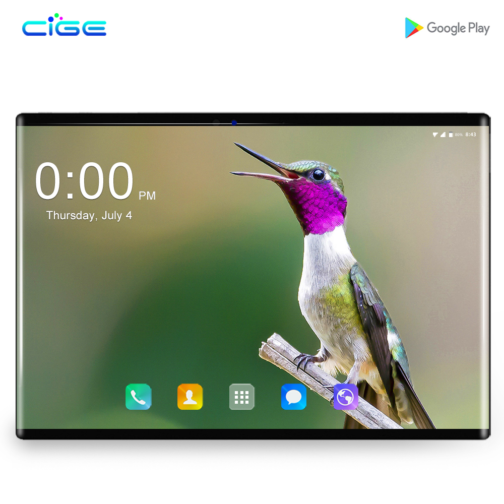 2019 IPS tablet PC 4 N9 2.5D G Android 8.0 Octa Núcleo Google Jogar Os comprimidos 6GB RAM 64GB ROM WiFi GPS 10 10' tablet de Tela de Aço