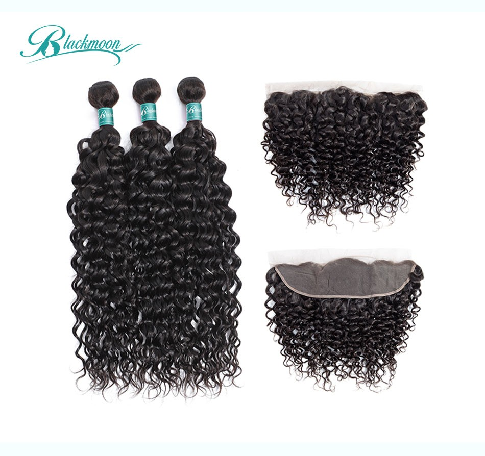 water wave hair weave 3 4 bundles with frontal--3+13_02