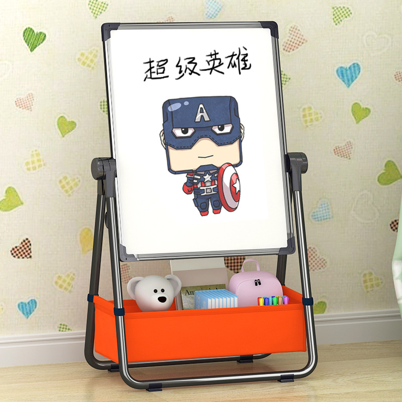 Children Household CHILDREN'S Graffiti Magnetic Small Blackboard Young STUDENT'S Easel Braced Drawing Board Double-Sided Alloy P