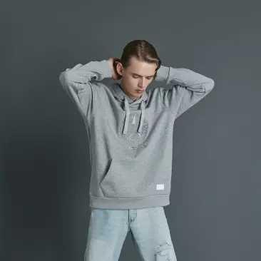 Xiaomi 90 男性プラスベルベットフード付きヘッド保温スウェットシャツフリース刺繍レジャースポーツランニングジャケットストリートコート