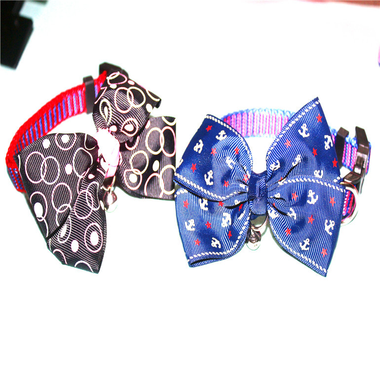 Dacron Of Multi-color Bow Pet Collar Cat Neck Ring Dog Neck Ring