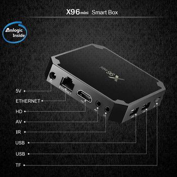X96Mini Android 9 0 tv pudełko procesor Amlogic S905w 64-bit penta-core ARM Mali-450 z NEO Smart tv box tv pudełko francja magazynu darmowa wysyłka tanie i dobre opinie 1000 M CN (pochodzenie) Amlogic S905W Quad-core 64-bit 8 GB eMMC 16 GB eMMC HDMI 1 4 1G DDR3 2G DDR3 802 11ax 0 425 2x USB 2 0