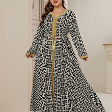2021 Abaya Long Spring Womens Ladies Dresses Large Plus Size Fashion Elegant Stitching Ramadan Maxi Dress