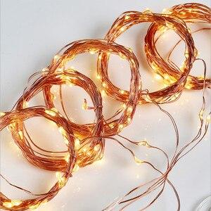 Image 2 - 200/300LED ソーラーカーテンストリングライト結婚式の休日パーティーストリングライト防水屋外屋内クリスマスライト装飾