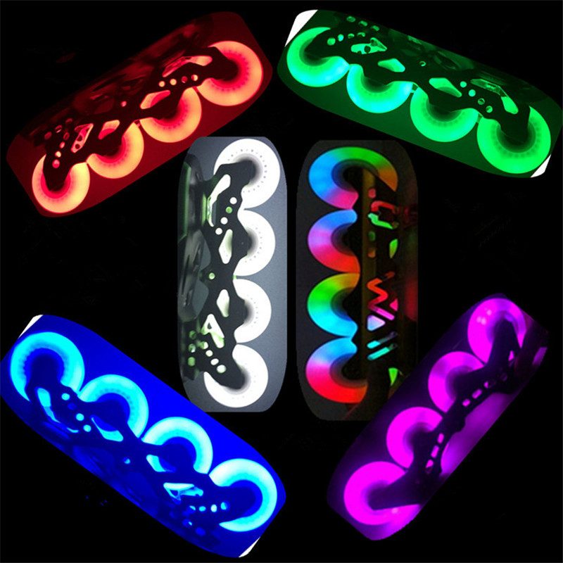 1Pcs 76mm Patines Flashing LED Skate Wheel Roller Skates Light Inline Sliding Roller PU Skating Roller Blade Replacement