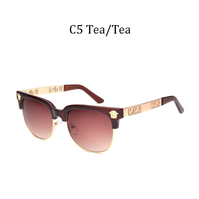 2020 LVVKEE New Luxury Brand Fashion Men Sunglasses Men Gradient Lens Half-frame Women Sunglasses UV400 De Sol 1813 CLUB