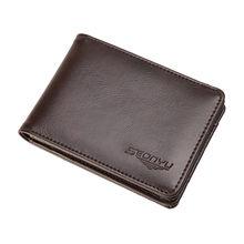 Maison fabre carteira de couro masculino bifold negócio id titular do cartão de crédito bolsa bolsos carteira sólida convience acessório carteira meninos