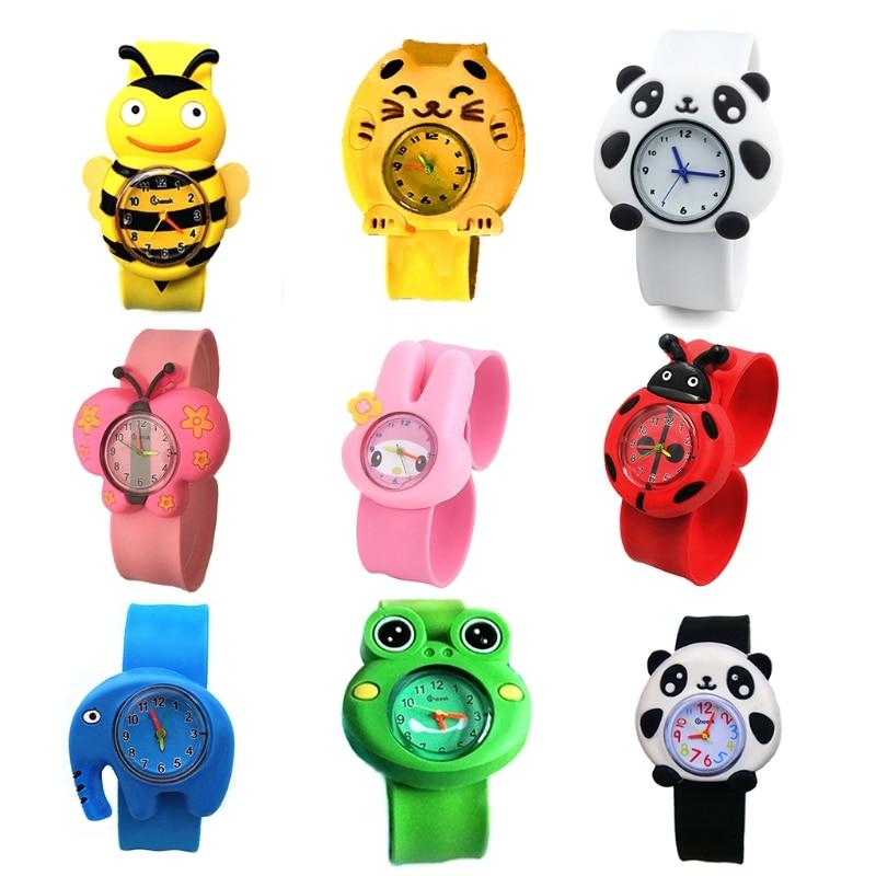 Children Cartoon Watches Cute Butterfly/Bee/Elephant/Frog Kids Wrist Watch Indicating Quartz Electronic Wristwatch