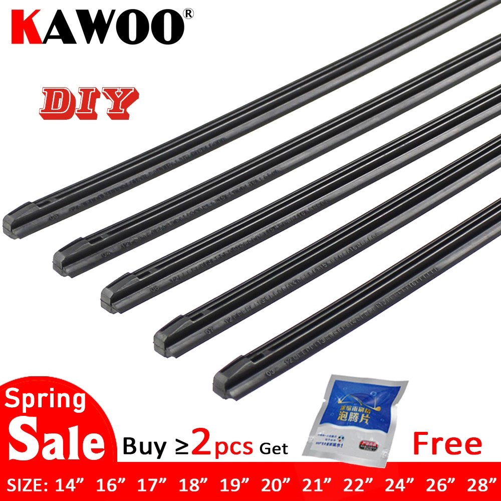 KAWOO Car Vehicle Insert Rubber strip Wiper Blade (Refill) 8mm Soft 14