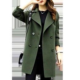 2019 Winter Coat Women Plus Size Korean Fashion Belt Womens Coats Slim Artificial Wool Outerwear Warm Winter Jacket For Female 3