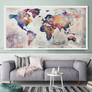 5d diy large diamond mosaic abstract world map diamond painting full square round embroidery sale graffiti home decor AA2468