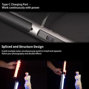 YC лук светодиодный RGB светильник ручное приложение управление RGB полноцветсветильник свет 0-360 Регулируемая температура 3200k-6200k