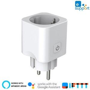 Умный Wi-Fi выключатель eWeLink, умная вилка 10 А, Европейская розетка, дистанционное управление через приложение, домашняя Автоматизация, работае...