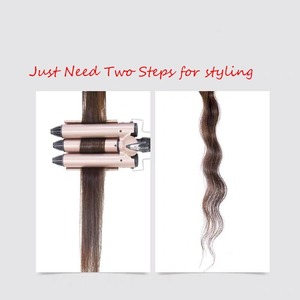 Image 5 - Professional Hair Curling Iron 20 32mm Ceramic Triple Barrel Hair Curler Irons Hair Wave Waver Styling Tools Hair Styler Wand