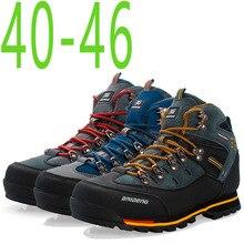 2019 Outdoor Big Size Waterproof Hiking Shoes For Men Suede