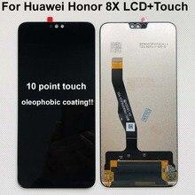 """Tela lcd de 100% """"original para huawei honor 8x, painel de toque e digitalizador com moldura 6.5 JSN L21 JSN AL00 JSN L22"""