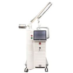 2019 أفضل الكورية ams كسور co2 آلة الليزر مع شاشة عرض كبيرة جهاز إزالة الوشم بالليزر ماكينة تجديد البشرة