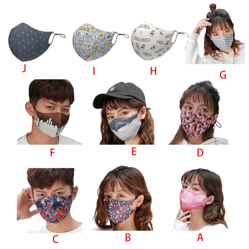 Fashion Men Women Cotton Dust Mask Breathable Washable Anti-smog Warm Masks