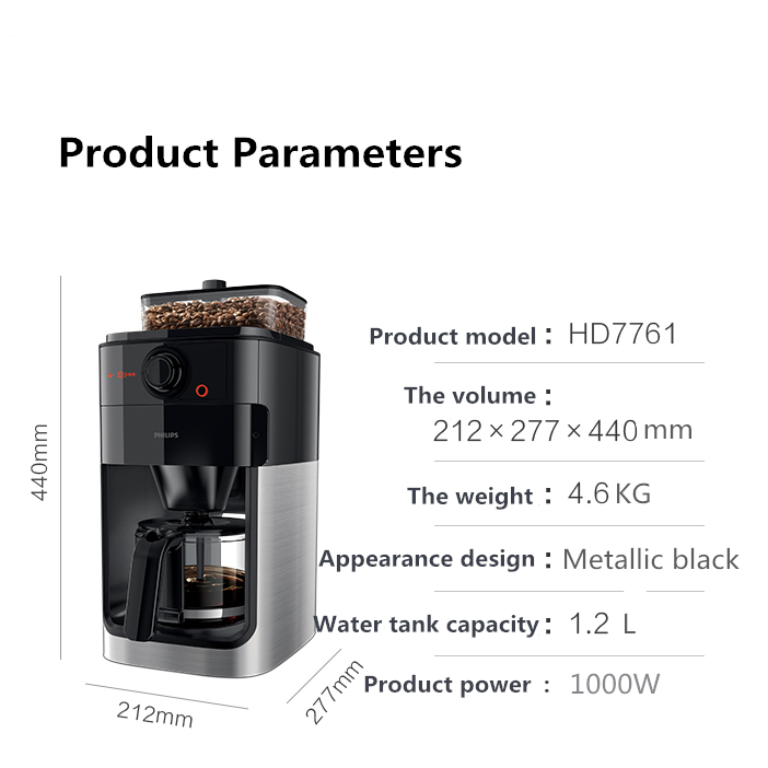 Philips Coffee Machine Home Commercial Full Automatic Classic American Coffee Machine Grinding One Coffee Makers Aliexpress