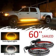 For SUV  pedal led light 2PCS 60144led Car LED Running Board Light Kit Side Step Strip for Truck CSV