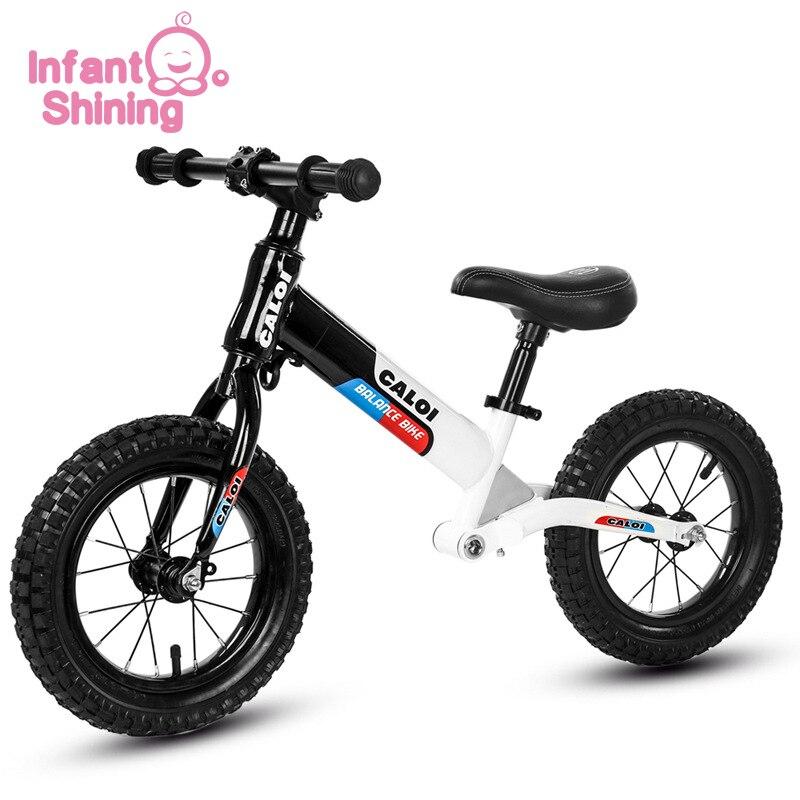 Детский Сияющий балансировочный автомобиль для езды на велосипеде, игрушки, двойное колесо, раздвижной автомобиль, регулируемый, без педали, для детей 2 6 лет