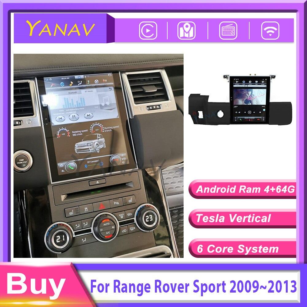 2 din автомобильный радиоприемник с навигацией gps плейер для Range Rover Sport L320 2009 ~ 2013 головное устройство стерео мониторные tesla стиль android carplay