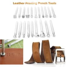 20pcs DIY Handmade Leather Printing Punch Stamps Leathercraft Carving Tool wear Craft Art Cowhide Tools