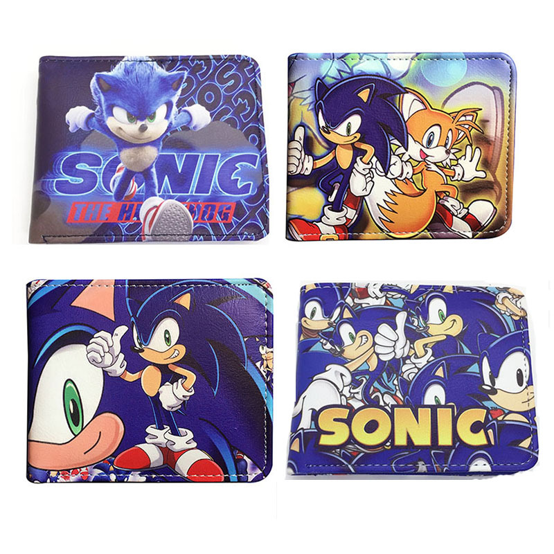 Sonic The Hedgehog Anime Wallet Pu Cartoon Super Sonic Wallets For Student Teenager Coin Purse Gift Wallets Aliexpress