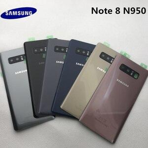 Image 1 - الأصلي سامسونج البطارية عودة غطاء note8 لسامسونج غالاكسي ملاحظة 8 N950 SM N950F N950FD الزجاج الخلفي حالة
