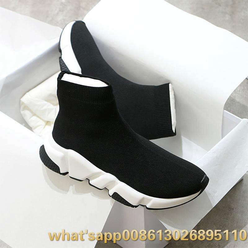 2019 20 Кроссовки; женская обувь; женская повседневная обувь из эластичного трикотажа; дышащая удобная женская обувь; спортивные носки - 2