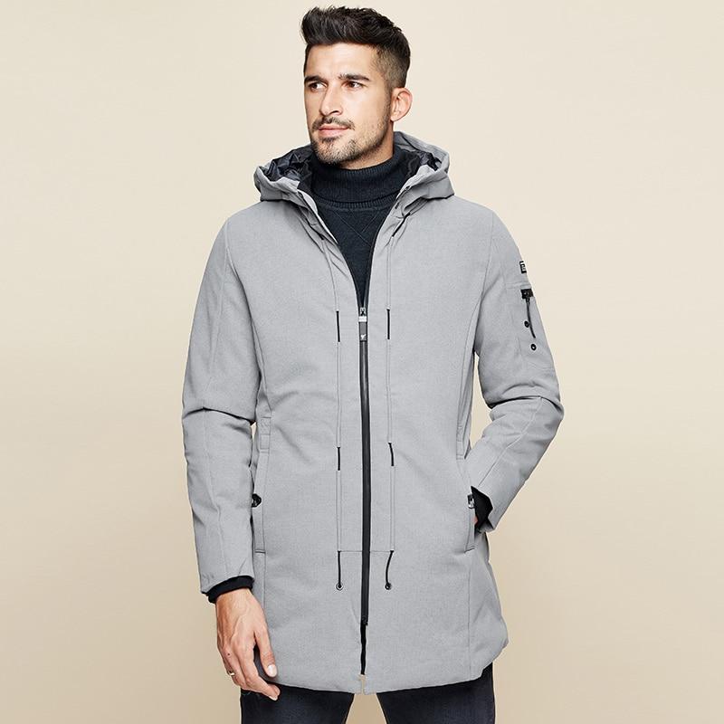 Neue Winter Herren Parkas Mit Kapuze Dicke Grau Schwarz Farbe Marke Kleidung Man Slim Fit Warme Kleidung Männlichen Tragen Mäntel plus Größe 21606 - 4