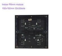 P6 Indoor Voll Farbe 3in1 192x192mm Pixel Led bildschirm Panel HD Display 32x32 Dot Matrix p6 SMD RGB Led modul