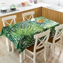 Folhas de planta imprimir toalha de mesa à prova dwaterproof água pano retangular chá capa de mesa cozinha jantar festa decoração para casa manteles