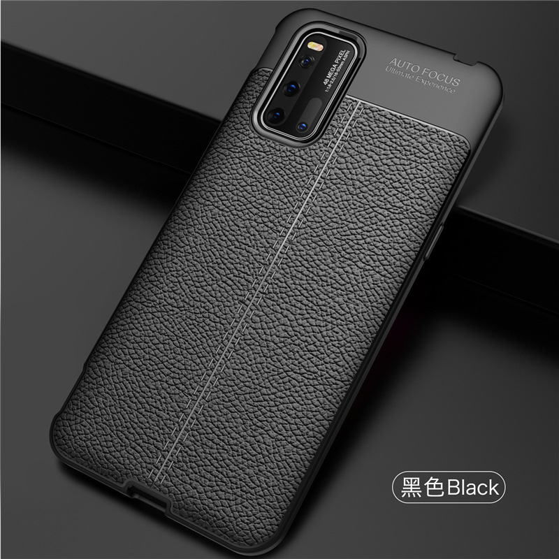 For Vivo Iqoo 3 5G Case Soft TPU Silicone Luxury Leather 6.44 Inch Anti-Knock Case For Vivo Iqoo 3 Case For Vivo Iqoo 3 5G Cover
