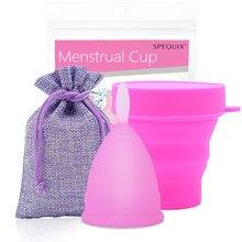 Medical Grade Silikon Menstruations Cup Feminine Hygiene Frauen Dame Tassen Faltbare Esterilizador Copa Menstrual Cup Dropshipping