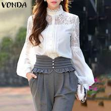 Office Ladies Shirts 2020 VONDA Plus Size Women Blouses Casu