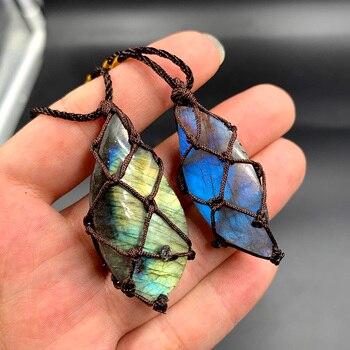Pendentif en pierre pr cieuse en cristal Labradorite pendentif en pierre de lune pendentif en pierre