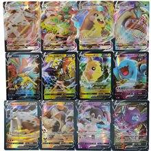 Pokemon V Vmax karty TAKARA TOMY lśniąca złota karta angielski Booster Box kolekcjonerska handlowa gra karciana dla dzieci zabawki dla dzieci na prezent