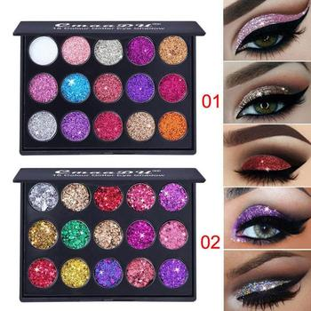 15 Color Glitter Eye Shadow Pallete Pigment Professional Eye Makeup Palette Long-lasting Make Up Eyeshadow Palette Maquillage Health & Beauty Make-up Makeup Palettes & Kits