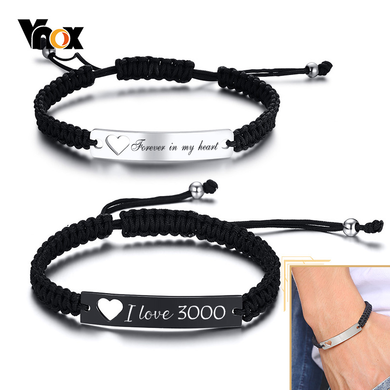VNOX Personalized Quote Stainless Steel Trendy Cable Chain Inspirational Bracelet with Padlock Heart Charm and Toggle Clasp Closure