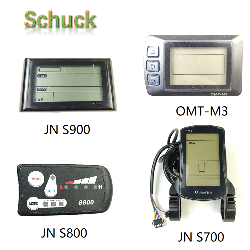 JN Ebike 24V 36V 48V  Ebike LCD LED Controller Panel S700/S800/S900/OMT-M3 Electric Bicycle Compute LCD Display