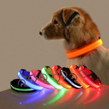 LED Dog Collar with USB Charging Colorful Lights Safe Anti-Lost Collars for Puppy Kitten Dogs Lead Collars 7 Lights Pet Products