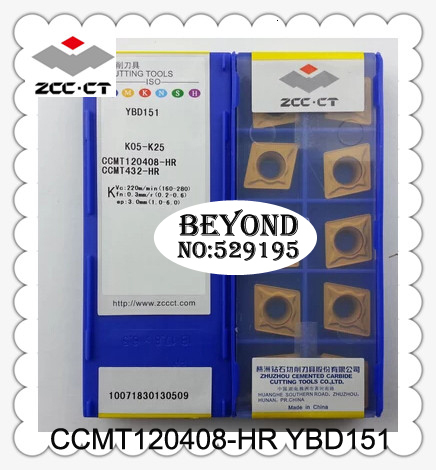 ZCC CT CCMT120408-HR YBD151 <font><b>CCMT</b></font> <font><b>120408</b></font> Original Carbide Lathe Cutter CNC Turning tools SCLCR image