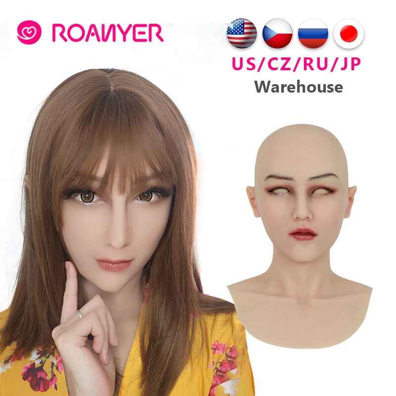 WANGXN Masque R/éaliste en Silicone Angel Face Femme Masque Cosplay Homme Femme Transsexuel pour Lady