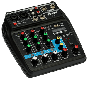 Image 1 - TU04 BT 4 Channels Sound Mixing Console Record 48V Phantom Power Monitor AUX Paths Plus Effects Audio Mixer with USB