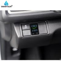 Smartour Android touch Auto Auto Drahtlose TPMS Tire Pressure Monitoring System mit 4 Sensoren LCD Display Embedded Monitor Für Toyota-in Reifendruck-Alarm aus Kraftfahrzeuge und Motorräder bei