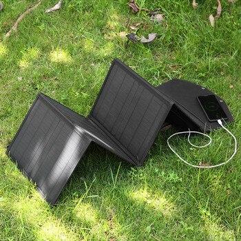 Складная солнечная батарея Складная зарядка на солнечной энергии Панель Солнечная энергия внешняя зарядка для телефона 80 Вт Складная солн