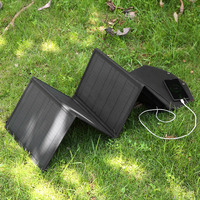 Folding Solar Cells Charger Foldable Solar Panel Sun Power Outdoor Phone Charge 80W Collapsible Solar Panel Charger 2 USB Ports